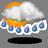 Einzelne Gewitter, örtlich mit Starkregen und Windböen.